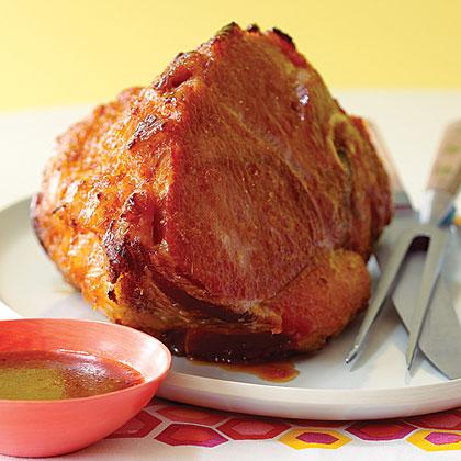 Baked Ham with Sticky Meyer Lemon-Spice Glaze
