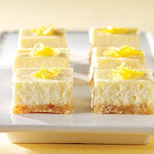 PHILADELPHIA 3-STEP Lemon Cheesecake Bars Recipes