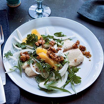 Mackerel with Herb Salad