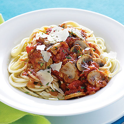 """""""We really liked this pasta sauce! It was really fast to put together and it was especially nice that the sauce cooked while the spaghetti boiled. The fresh herbs really made the dish."""" -ReneePechMushroom-Herb Spaghetti Recipe"""