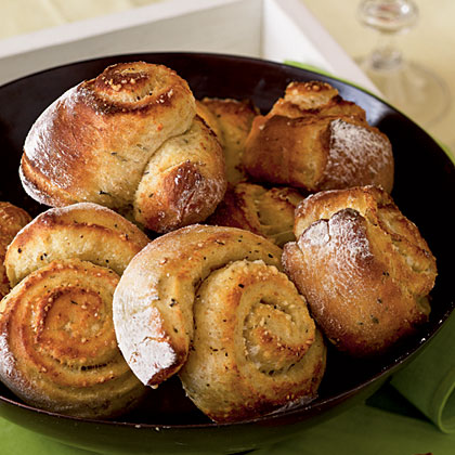 No-Knead Overnight Parmesan and Thyme Rolls