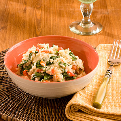 Baby Spinach and Red Pepper Rice