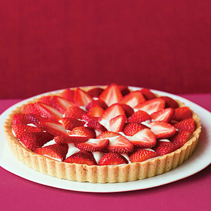 Brown Sugar Strawberry Tart RecipeThis recipe is so simple that you'll find yourself getting creative with the berries you put on the top. The combination of the brown sugar crust, creamy filling and sweet fruit topping make this the perfect summertime treat.