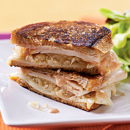 Turkey Reuben Panini Recipe | MyRecipes.com