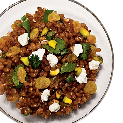 Wheat Berry Salad with Raisins and PistachiosRecipe