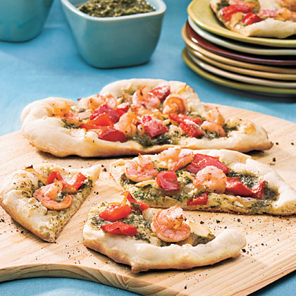 Shrimp-Pesto PizzaRecipe