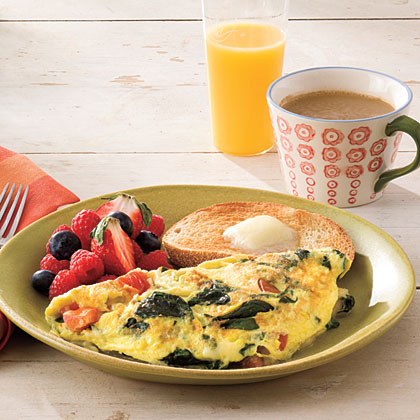 Spinach-and-Cheese Omelet Recipe