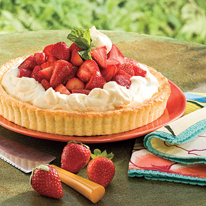 Strawberry-Orange Shortcake Tart