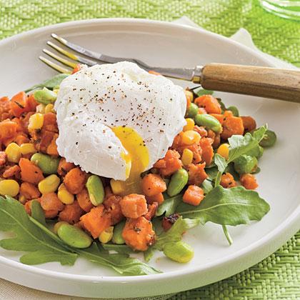 Sweet Potato-and-Edamame Hash