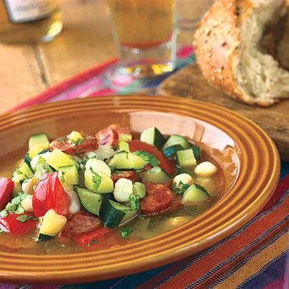 Spicy Andouille Posole Recipe