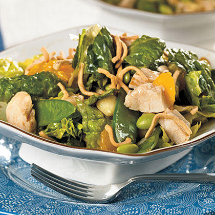 Chicken and Edamame Asian Salad Recipe | MyRecipes