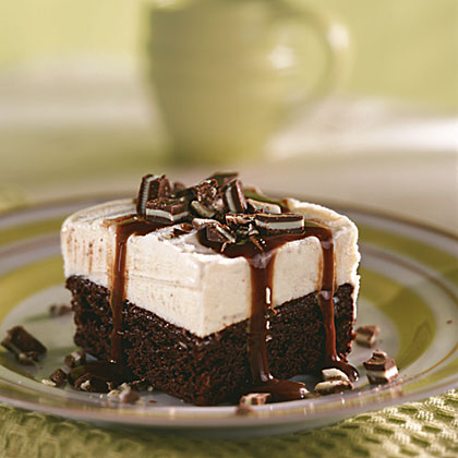 Mint Brownie Ice Cream Bars