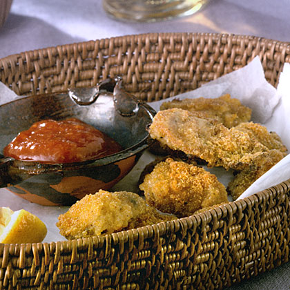 Cajun Oven-Fried Oysters With Spicy Cocktail SauceRecipe