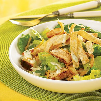 Caribbean Grilled Chicken Salad with Honey-Lime Dressing Recipe ...