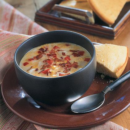 Cheesy Vegetable Chowder Recipe | MyRecipes.com