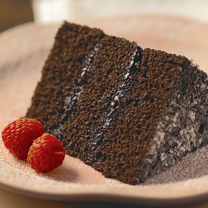 The good news is that no matter how dark chocolate gets, it's always delicious. Just slightly more naughty.Dark Chocolate and Raspberry Layer Cake