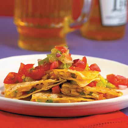 Roasted Corn Quesadillas With Tomatillo SalsaRecipe