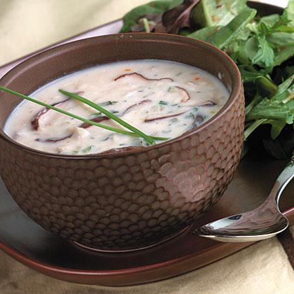 Wild Mushroom-Crab Soup