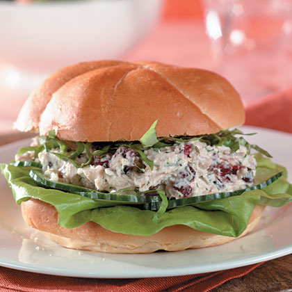 Lemon-Cranberry Tuna Salad Sandwiches