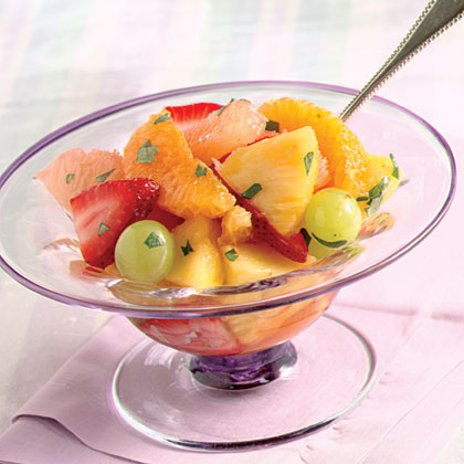 Fresh Fruit Salad With Citrus-Cilantro Dressing Recipe