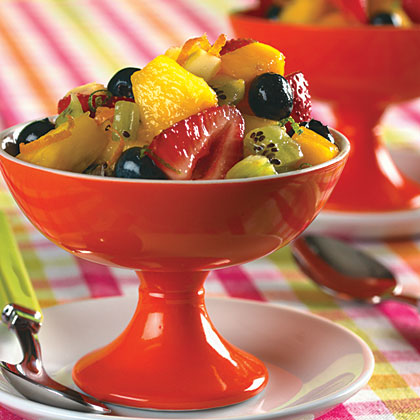 Fresh Fruit Salad with Lime-Ginger Syrup Recipe | MyRecipes