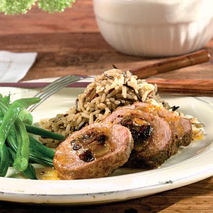 Fruit-Stuffed Pork Tenderloin With Orange-Mustard SauceRecipe
