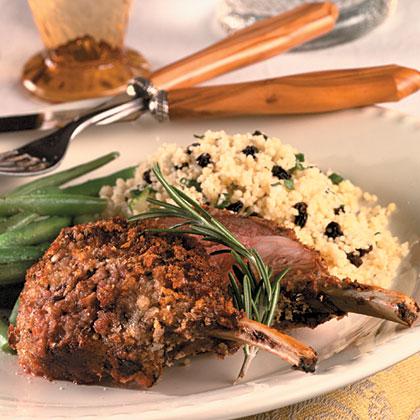Garlic-Rosemary-Crusted Rack Of Lamb