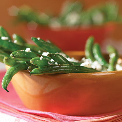 Green Beans In Vinaigrette With Feta