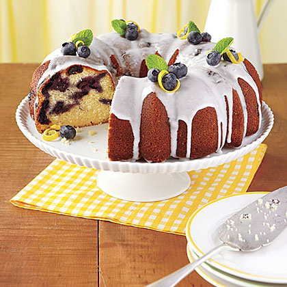 The combination of blueberries and lemon elevates the flavor of this simple, sugar-glazed bundt cake.  This decadent cake offers triple-good lemon flavor with lemon juice and zest in the cake batter as well as lemon juice in the glaze. Lemon-Blueberry Bundt Cake Recipe