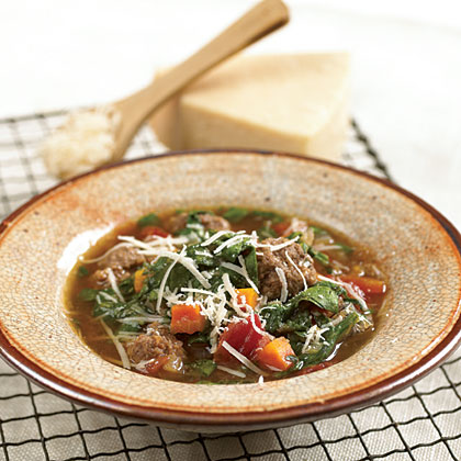 Meatball Soup With Spinach Recipe