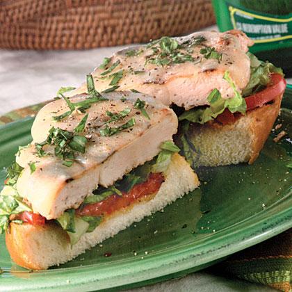 Open-Faced Mediterranean Grilled Chicken Sandwiches