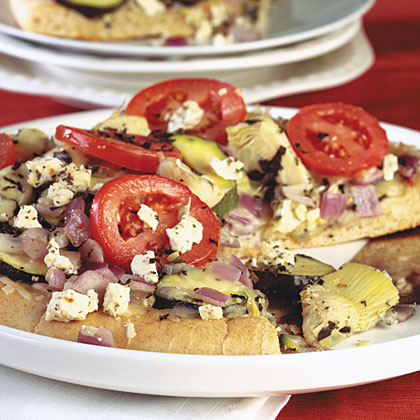 Mediterranean Pizza With Whole Wheat Crust