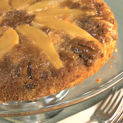 Pear Upside-Down Cake With Pecans