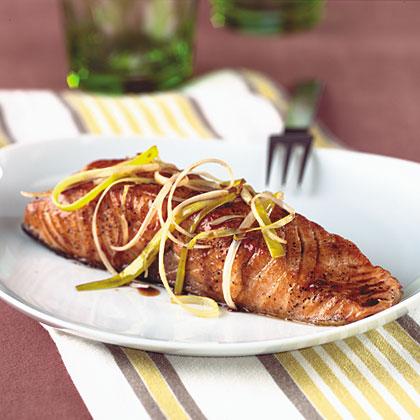 Pan-Seared Salmon With Honey-Balsamic Sauce