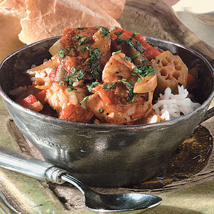 Shrimp-Andouille Creole Recipe