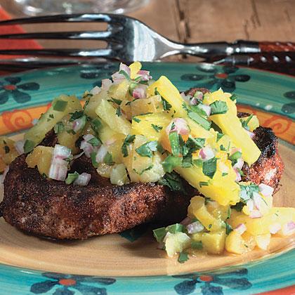 Spiced Pork Chops With Pineapple Salsa Recipe