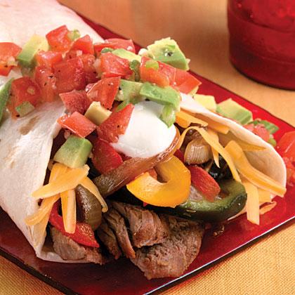 Grilled Steak Wraps With Avocado Picadillo