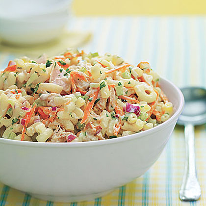 Picnic perfect tuna and macaroni salad recipe myrecipes for Macaroni salad with tuna fish