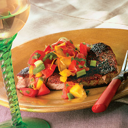 Blackened Tuna With Orange-Zested SalsaRecipe