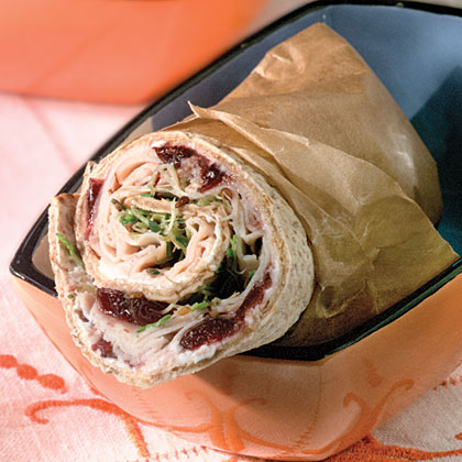 Turkey-And-Chutney Pita Wraps Recipe