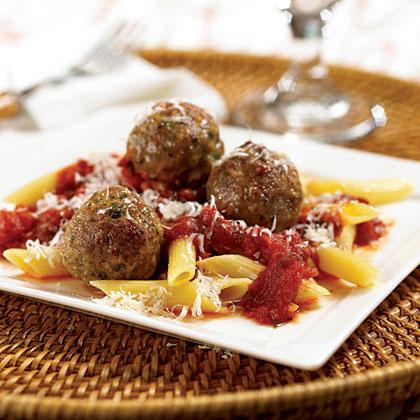 Turkey Meatballs With Penne