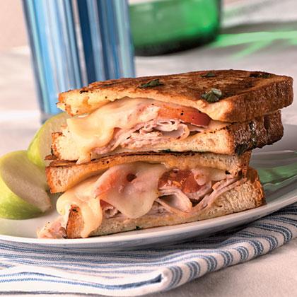 Turkey-Basil Monte Cristo Sandwiches
