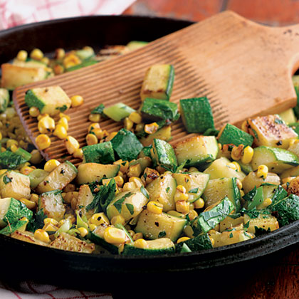 Zucchini-And-Corn Sauté Recipe | MyRecipes