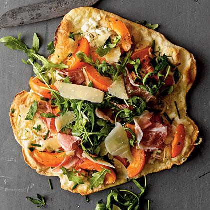 Apricot and Prosciutto Thin-Crust Pizza