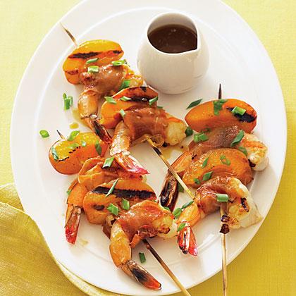 Apricot Shrimp Skewers