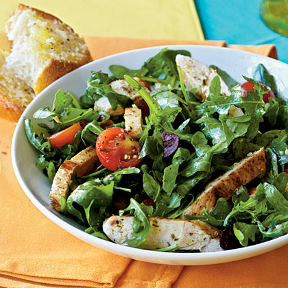 Herbed Arugula-Tomato Salad with Chicken