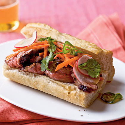 Banh Mi-Style Roast Beef Sandwiches Recipe