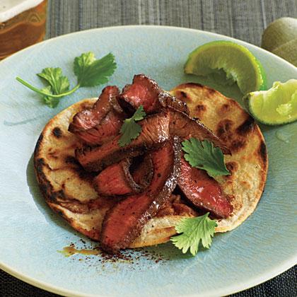 Chile-Rubbed Flat-Iron Steak
