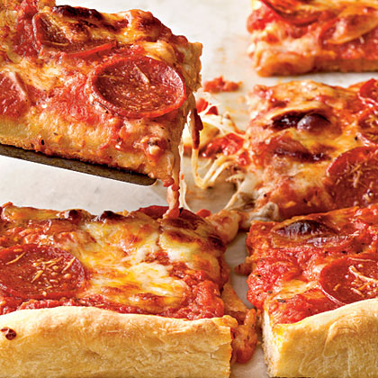 Pepperoni Deep Dish Pizza