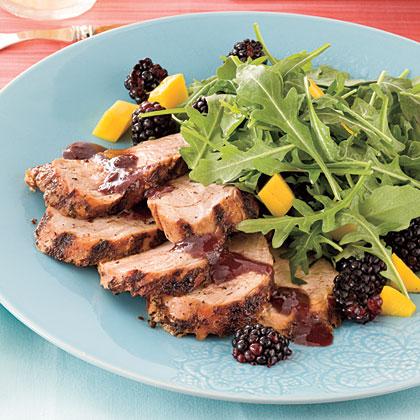 Spicy Grilled Pork Tenderloin With Blackberry Sauce Recipe